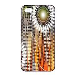 Floral Abstract Pattern Background Apple iPhone 4/4s Seamless Case (Black)