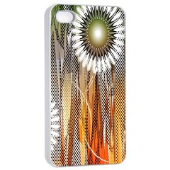 Floral Abstract Pattern Background Apple Iphone 4/4s Seamless Case (white)