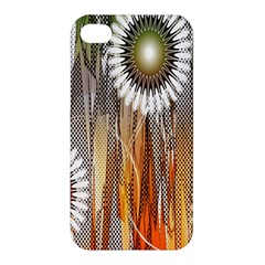 Floral Abstract Pattern Background Apple Iphone 4/4s Hardshell Case