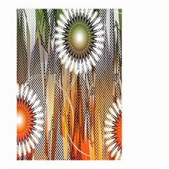 Floral Abstract Pattern Background Small Garden Flag (two Sides)