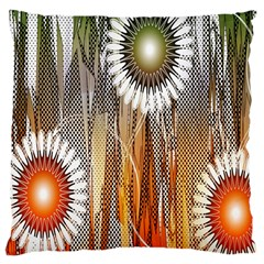 Floral Abstract Pattern Background Large Cushion Case (One Side)