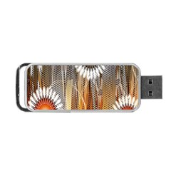 Floral Abstract Pattern Background Portable USB Flash (Two Sides)