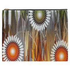Floral Abstract Pattern Background Cosmetic Bag (XXXL)