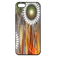 Floral Abstract Pattern Background Apple iPhone 5 Seamless Case (Black)