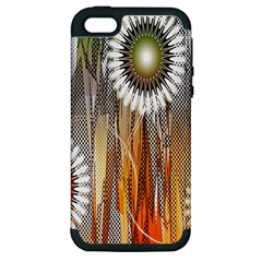 Floral Abstract Pattern Background Apple Iphone 5 Hardshell Case (pc+silicone)