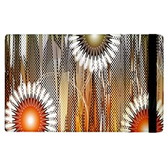 Floral Abstract Pattern Background Apple iPad 2 Flip Case