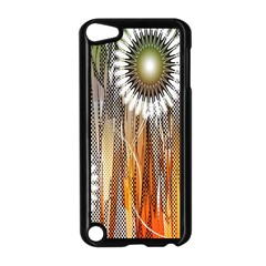 Floral Abstract Pattern Background Apple iPod Touch 5 Case (Black)
