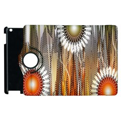 Floral Abstract Pattern Background Apple iPad 2 Flip 360 Case