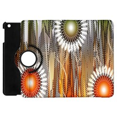 Floral Abstract Pattern Background Apple Ipad Mini Flip 360 Case