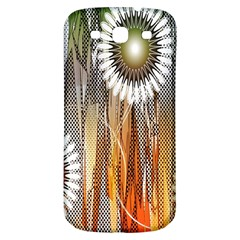 Floral Abstract Pattern Background Samsung Galaxy S3 S III Classic Hardshell Back Case