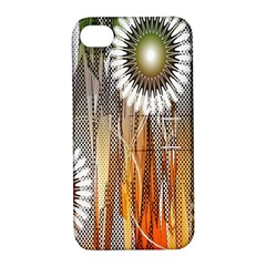 Floral Abstract Pattern Background Apple iPhone 4/4S Hardshell Case with Stand