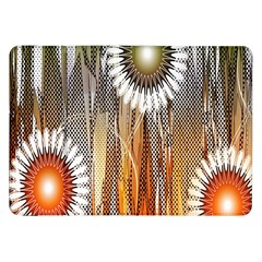 Floral Abstract Pattern Background Samsung Galaxy Tab 8.9  P7300 Flip Case