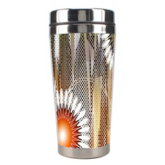 Floral Abstract Pattern Background Stainless Steel Travel Tumblers