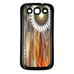 Floral Abstract Pattern Background Samsung Galaxy S3 Back Case (black)