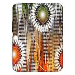 Floral Abstract Pattern Background Samsung Galaxy Tab 3 (10.1 ) P5200 Hardshell Case