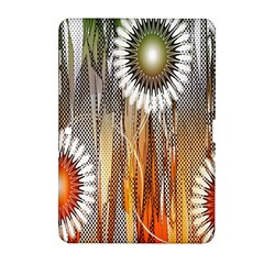 Floral Abstract Pattern Background Samsung Galaxy Tab 2 (10 1 ) P5100 Hardshell Case