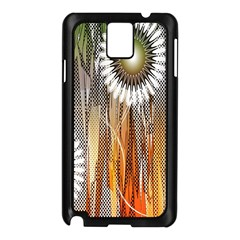 Floral Abstract Pattern Background Samsung Galaxy Note 3 N9005 Case (black)