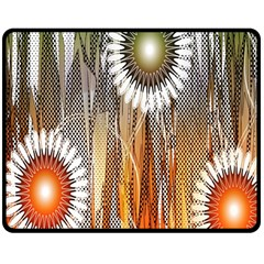 Floral Abstract Pattern Background Double Sided Fleece Blanket (medium)