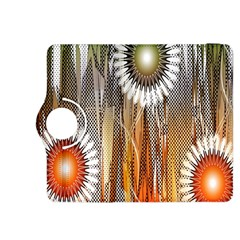 Floral Abstract Pattern Background Kindle Fire HDX 8.9  Flip 360 Case