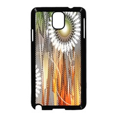 Floral Abstract Pattern Background Samsung Galaxy Note 3 Neo Hardshell Case (Black)
