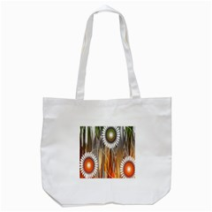 Floral Abstract Pattern Background Tote Bag (White)