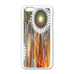 Floral Abstract Pattern Background Apple iPhone 6/6S White Enamel Case