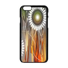 Floral Abstract Pattern Background Apple Iphone 6/6s Black Enamel Case
