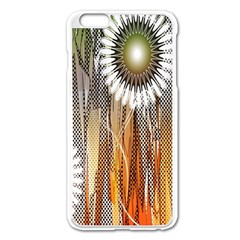 Floral Abstract Pattern Background Apple iPhone 6 Plus/6S Plus Enamel White Case