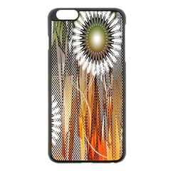 Floral Abstract Pattern Background Apple Iphone 6 Plus/6s Plus Black Enamel Case
