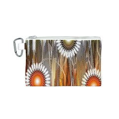 Floral Abstract Pattern Background Canvas Cosmetic Bag (s)