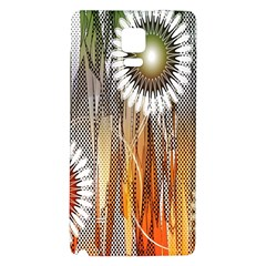 Floral Abstract Pattern Background Galaxy Note 4 Back Case