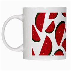 Fruit Watermelon Seamless Pattern White Mugs