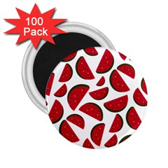 Fruit Watermelon Seamless Pattern 2.25  Magnets (100 pack)