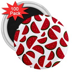 Fruit Watermelon Seamless Pattern 3  Magnets (100 pack)