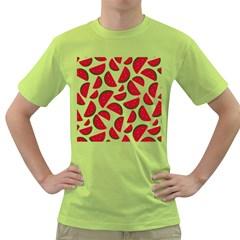 Fruit Watermelon Seamless Pattern Green T Shirt