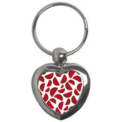 Fruit Watermelon Seamless Pattern Key Chains (Heart)