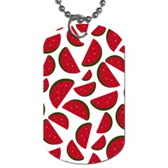 Fruit Watermelon Seamless Pattern Dog Tag (Two Sides)