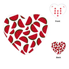 Fruit Watermelon Seamless Pattern Playing Cards (Heart)