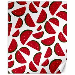 Fruit Watermelon Seamless Pattern Canvas 11  X 14