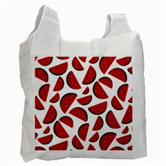 Fruit Watermelon Seamless Pattern Recycle Bag (One Side)
