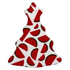 Fruit Watermelon Seamless Pattern Christmas Tree Ornament (Two Sides)