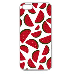 Fruit Watermelon Seamless Pattern Apple Seamless iPhone 5 Case (Clear)