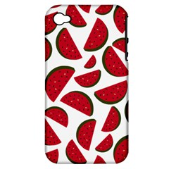 Fruit Watermelon Seamless Pattern Apple iPhone 4/4S Hardshell Case (PC+Silicone)