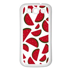 Fruit Watermelon Seamless Pattern Samsung Galaxy S3 Back Case (white)