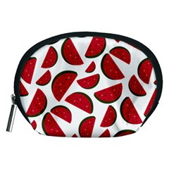 Fruit Watermelon Seamless Pattern Accessory Pouches (medium)
