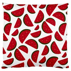 Fruit Watermelon Seamless Pattern Large Flano Cushion Case (Two Sides)
