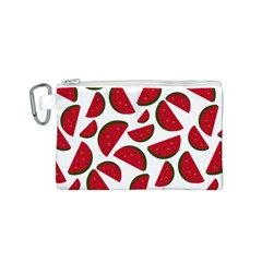 Fruit Watermelon Seamless Pattern Canvas Cosmetic Bag (s)