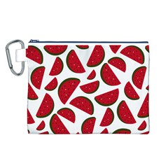 Fruit Watermelon Seamless Pattern Canvas Cosmetic Bag (L)