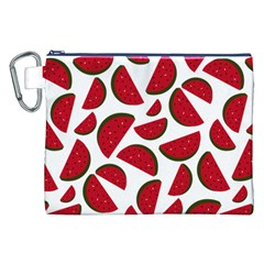 Fruit Watermelon Seamless Pattern Canvas Cosmetic Bag (XXL)