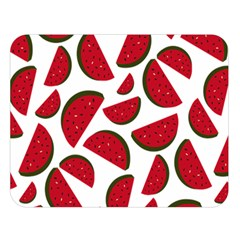 Fruit Watermelon Seamless Pattern Double Sided Flano Blanket (Large)